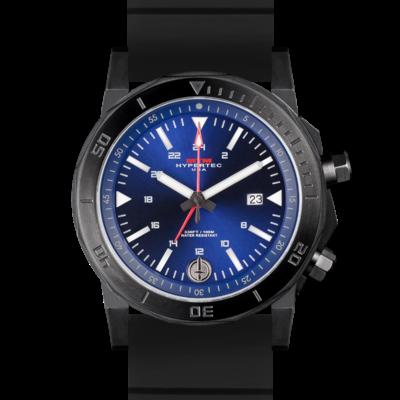 Мужские брутальные часы с красивым циферблатом MTM BLACK HYPERTEC H-61 (BLUE)