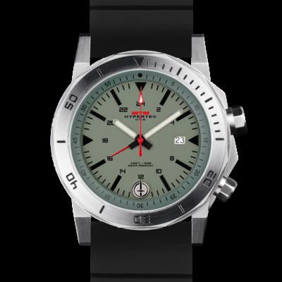 Америкаские часы в стиле милитари MTM SILVER HYPERTEC H-61 (GREEN)