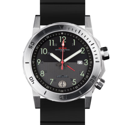 Стальные мужские часы с большими арабскими цифрами  MTM SILVER HYPERTEC H-61 (LUMI II)