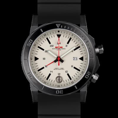 Лучшие мужские часы с белым циферблатом и двойным безелем MTM BLACK HYPERTEC H-61 (TAN)