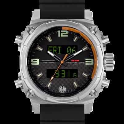 Часы с цифровым компасом MTM SILVER AIR STRYK II - CO