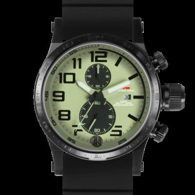Лучшие мужские часы со светлым циферблатом MTM BLACK HYPERTEC CHRONO II (LUMI)