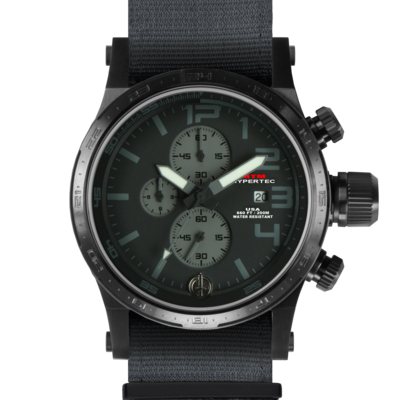 Тактические часы с хронографом MTM BLACK HYPERTEC CHRONO III (BLACK-GRAY)