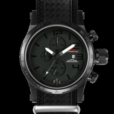 Полностью черные часы с хронографом MTM BLACK HYPERTEC CHRONO III (BLACK)