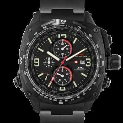 Военные часы с хронографом и будильником MTM BLACK COBRA 44