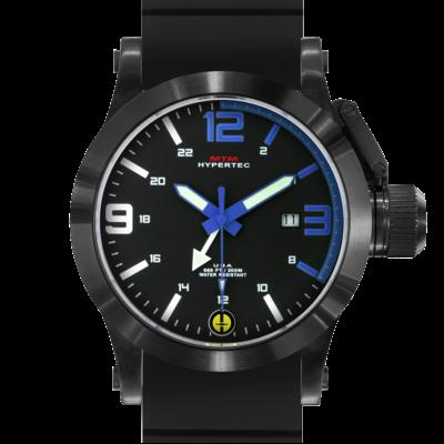 Лучшие черные часы MTM BLACK HYPERTEC BLUE DIAL
