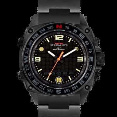 Наручные мужские часы с вибросигналом будильником секундомером таймером  MTM BLACK SILENCER