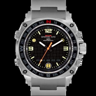 Военные часы с вибросигналом и фонариком MTM SILVER SILENCER