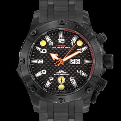Тактические часы с фонариком MTM BLACK VULTURE