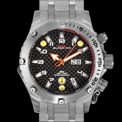 Мужские наручные часы с фонариком MTM SILVER VULTURE