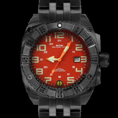 Часы для дайверов с крупными арабскими цифрами MTM BLACK WARRIOR ORANGE NEW