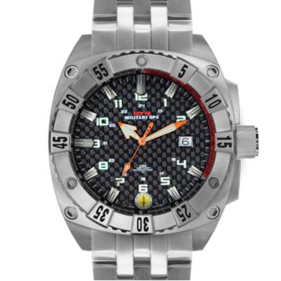 Ударопрочные дайверские часы с датой MTM SILVER WARRIOR